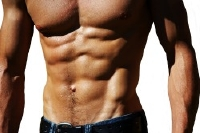 Man with excellent abdominal muscles